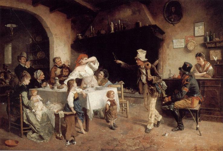 The Entertainer | Giocomo Mantegazza | Oil Painting