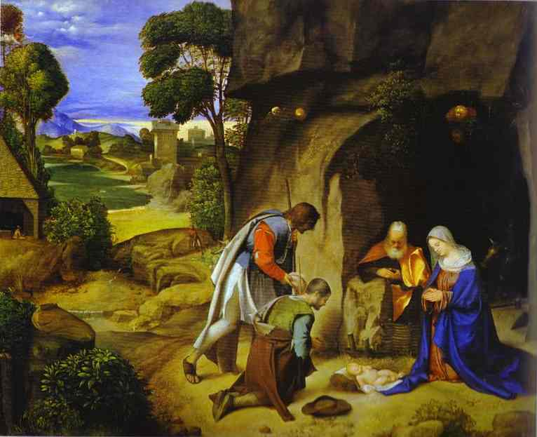 Adoration Of The Shepherds 1504 | Giorgione | Oil Painting