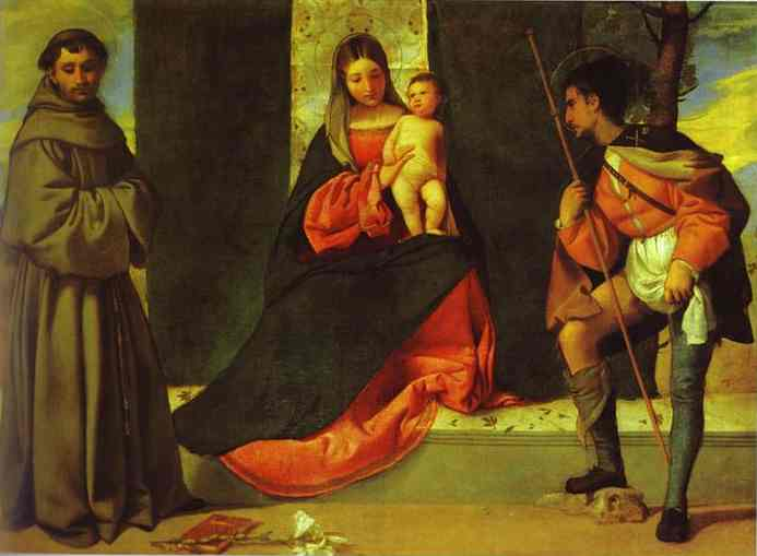 Madonna And Child With St Anthony And St Roch 1510 | Giorgione | Oil Painting