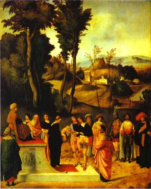 Moses Trial By Fire 1495-1496 | Giorgione | Oil Painting