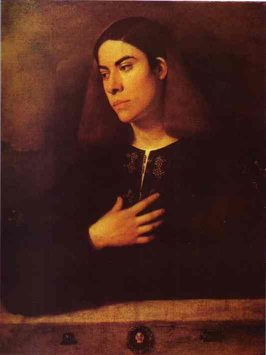 Portrait Of A Young Man (Antonio Broccardo) 1510 | Giorgione | Oil Painting