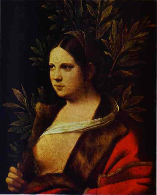 Portrait Of A Young Woman (Laura) 1506 | Giorgione | Oil Painting