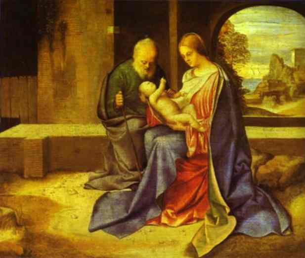 The Holy Family 1500 | Giorgione | Oil Painting