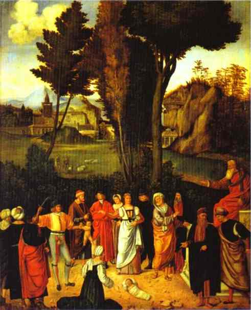 The Judgment Of Solomon 1495-1496 | Giorgione | Oil Painting