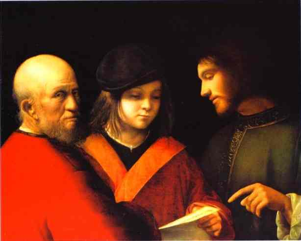 The Three Ages Of Man 1510 | Giorgione | Oil Painting