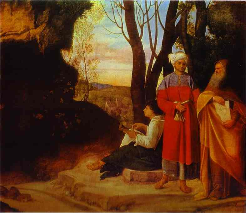The Three Philosophers 1508 | Giorgione | Oil Painting