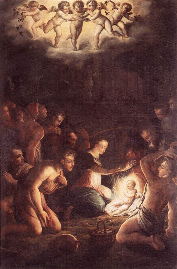 The Nativity 1546 | Giorgio Vasari | Oil Painting