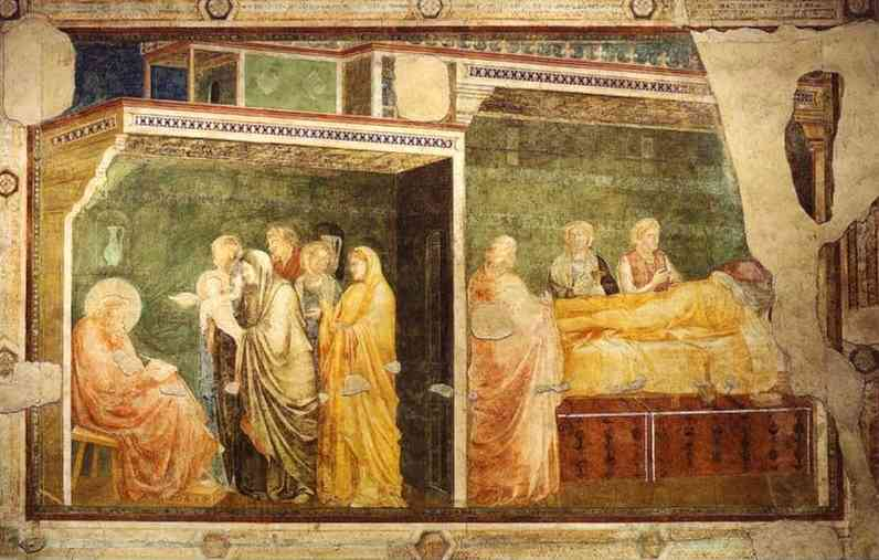 Birth And Naming Of John The Baptist 1313 14 | Giotto | Oil Painting