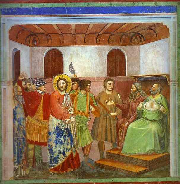 Christ Before Caiphus 1304-1306 | Giotto | Oil Painting