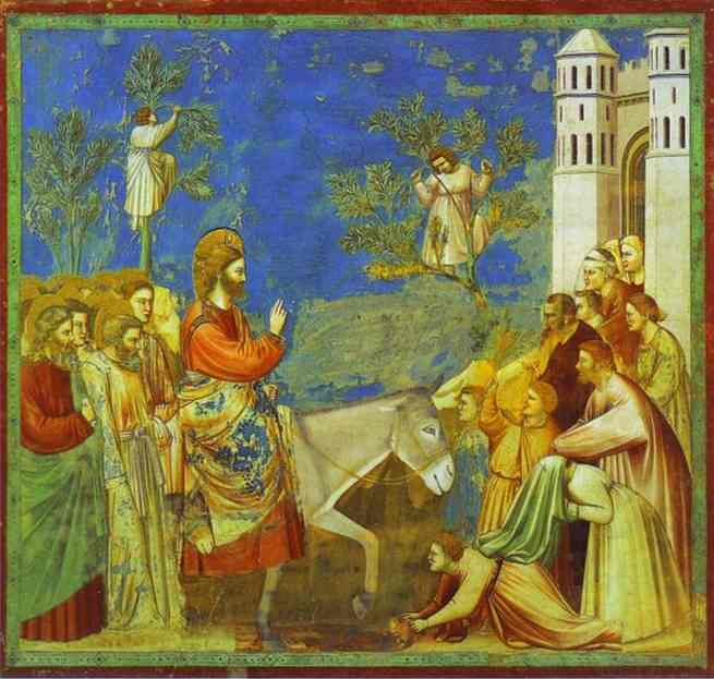 Christ Entering Jerusalem 1304-1306 | Giotto | Oil Painting