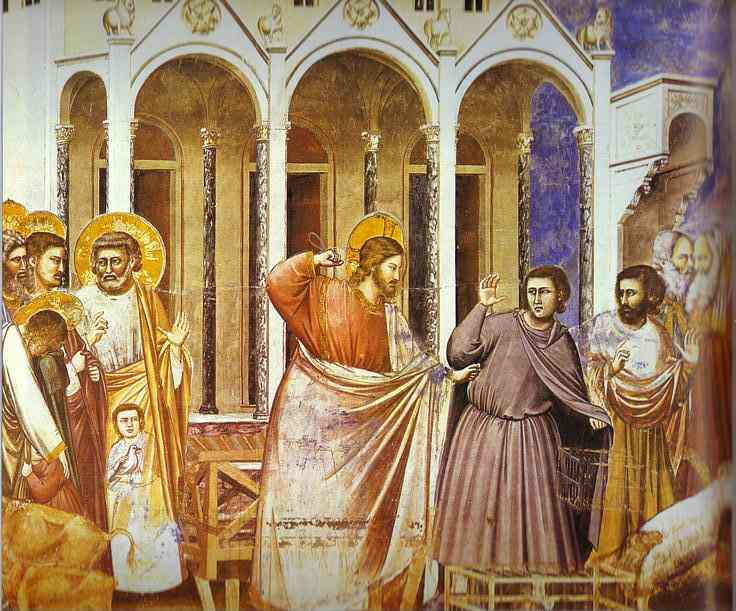 Christ Purging The Temple 1304-1306 | Giotto | Oil Painting