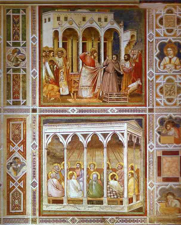 Christ Purging The Temple And Pentecost 1304-1306 | Giotto | Oil Painting