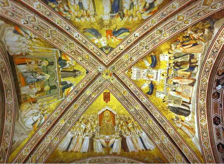 Crossing Vault 1316-19 | Giotto | Oil Painting
