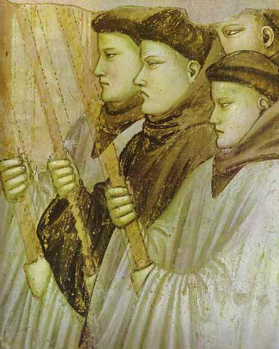 Death Of St Francis And Inspection Of Stigmata St Francis Burial Detail 1320s | Giotto | Oil Painting