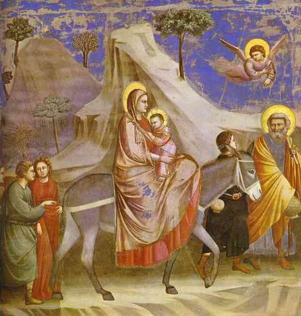 Flight Into Egypt 1304-1306 | Giotto | Oil Painting