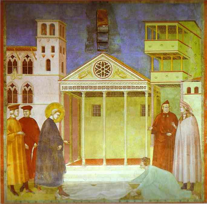 Homage Of A Simple Man 1295-1300 | Giotto | Oil Painting