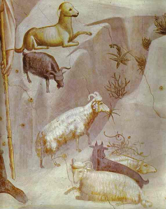 Joachims Dream Detail 1304-1306 | Giotto | Oil Painting