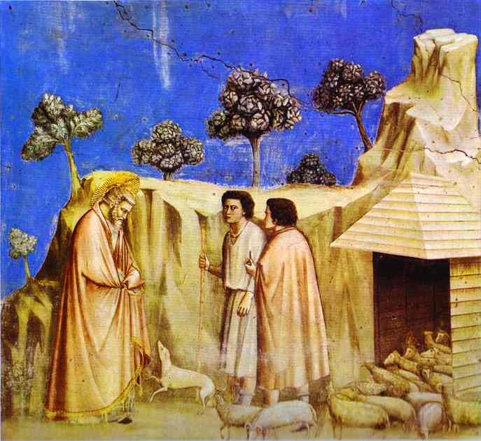 Joachim Taking Refuge Among The Shepherds 1304-1306 | Giotto | Oil Painting