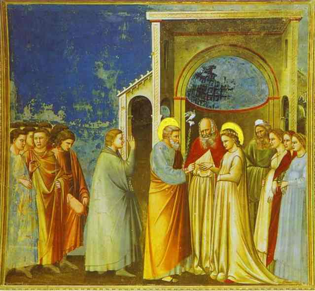 Marriage Of The Virgin 1302-1305 | Giotto | Oil Painting
