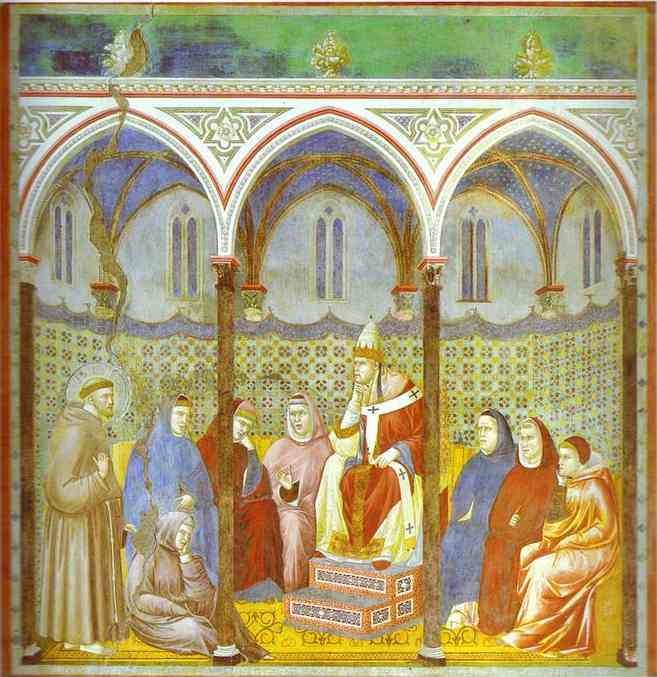 Preaching Before Pope Honorius Iii 1295-1300 | Giotto | Oil Painting
