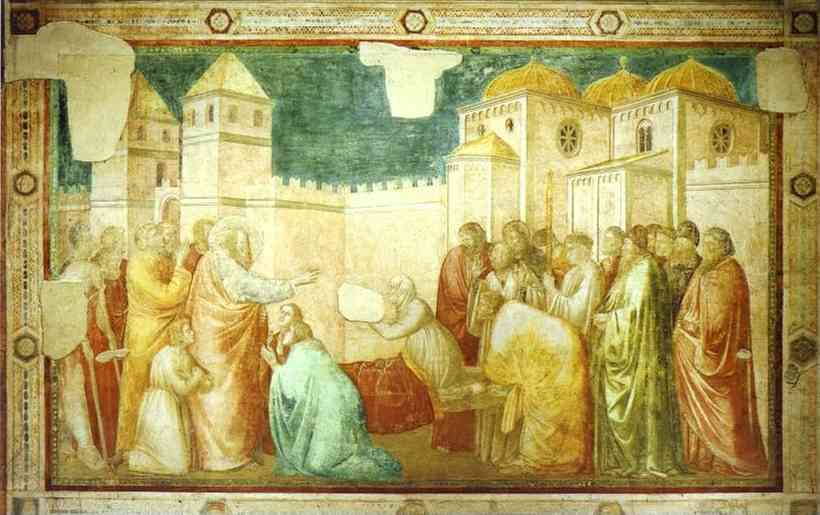 Raising Of Drusiana 1313 14 | Giotto | Oil Painting