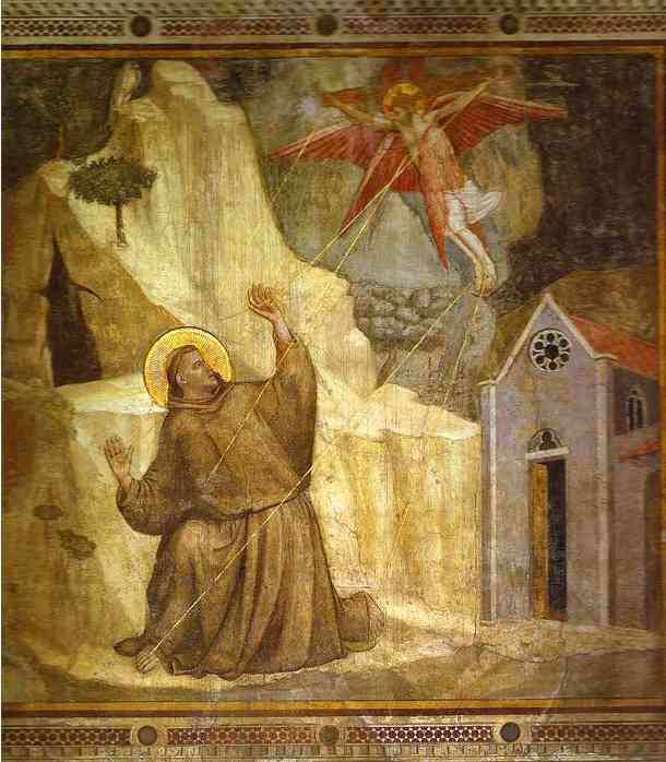 Stigmatization 1319-1328 | Giotto | Oil Painting