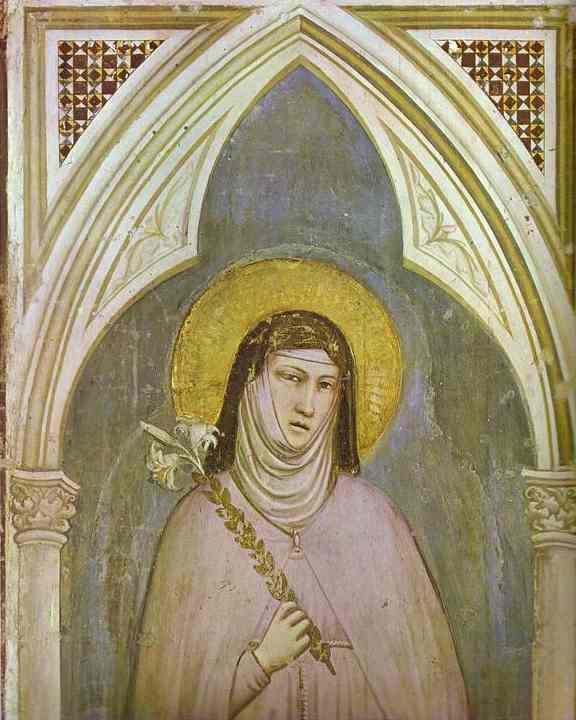 St Claire Detail 1320s | Giotto | Oil Painting