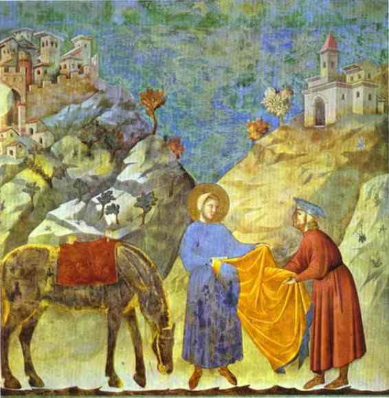 St Francis Giving His Cloak To A Poor Man 1295-1300 | Giotto | Oil Painting