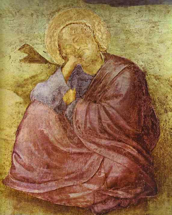 St John The Evangelist At Patmos Detail 1320s | Giotto | Oil Painting