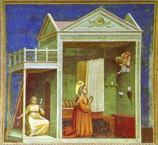 The Angel Appearing To St Anne 1302-1305 | Giotto | Oil Painting