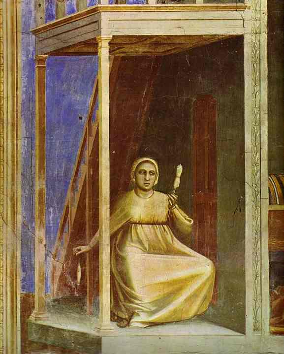 The Angel Appearing To St Anne Detail 1304-1306 | Giotto | Oil Painting
