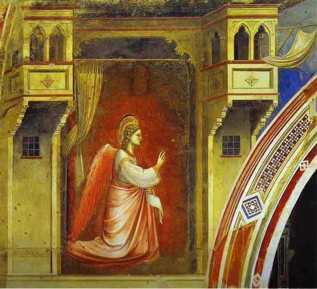 The Angel Of Annunciation 1 1302-1305 | Giotto | Oil Painting