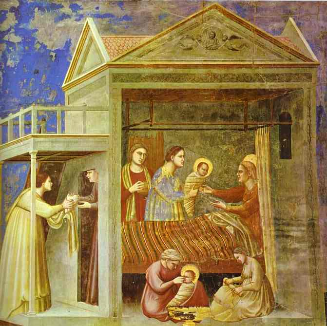 The Birth Of Mary 1304-1306 | Giotto | Oil Painting