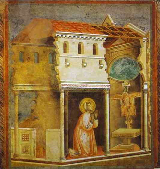 The Crucifix In San Damiano 1300 | Giotto | Oil Painting