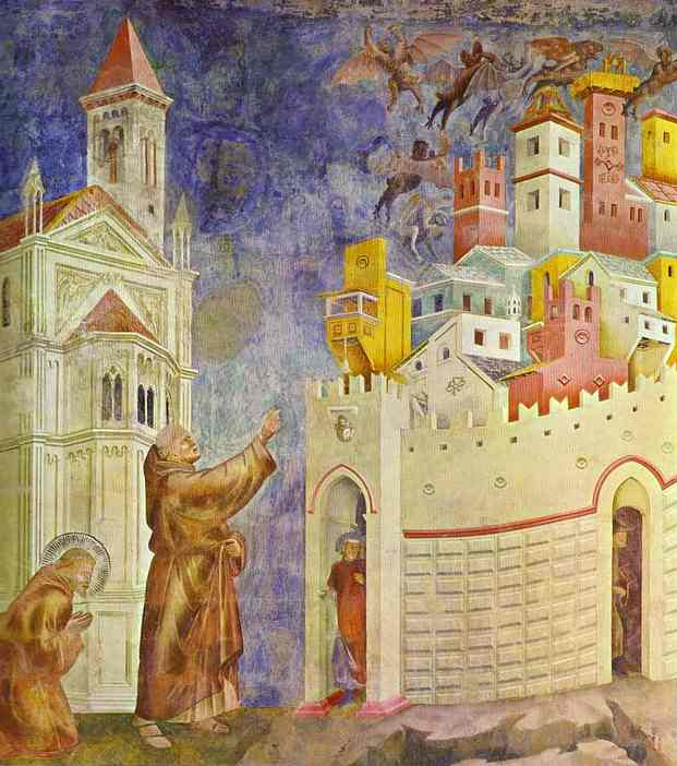 The Expulsion Of The Demons From Arezzo 1295-1300 | Giotto | Oil Painting