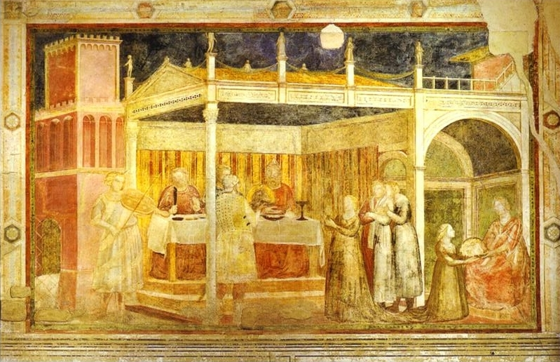 The Feast Of Herod 1313 14 | Giotto | Oil Painting