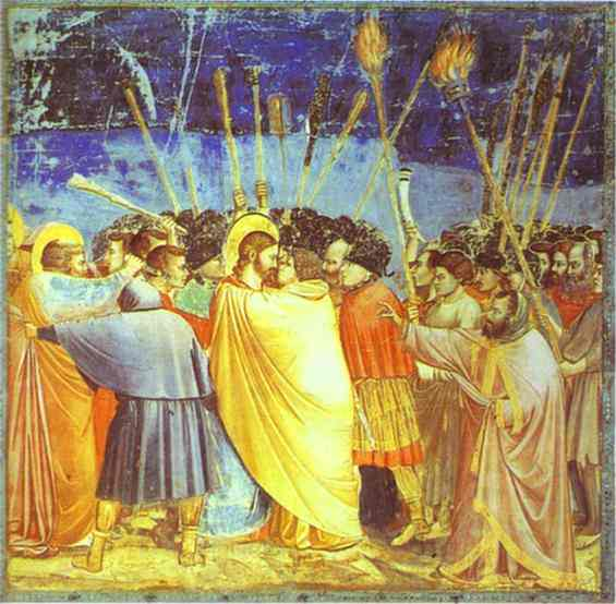 The Kiss Of Judas 1304-1306 | Giotto | Oil Painting