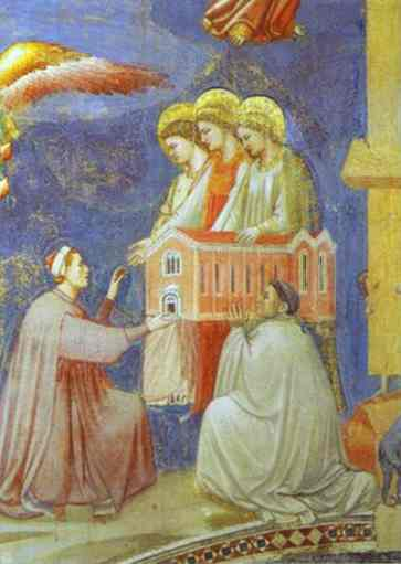 The Last Judgement Detail (Enrico Scrovegni Presents The Model Of The Church To The Virgin Mary) 1304-1306 | Giotto | Oil Painting