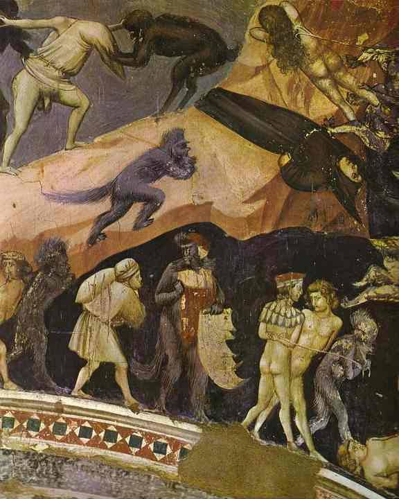 The Last Judgement Detail 3 1304-1306 | Giotto | Oil Painting