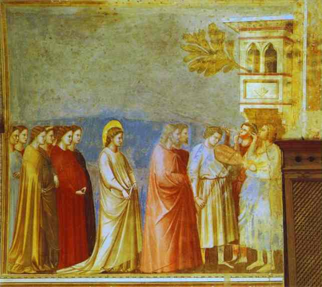 The Marriage Procession Of The Virgin 1304-1306 | Giotto | Oil Painting