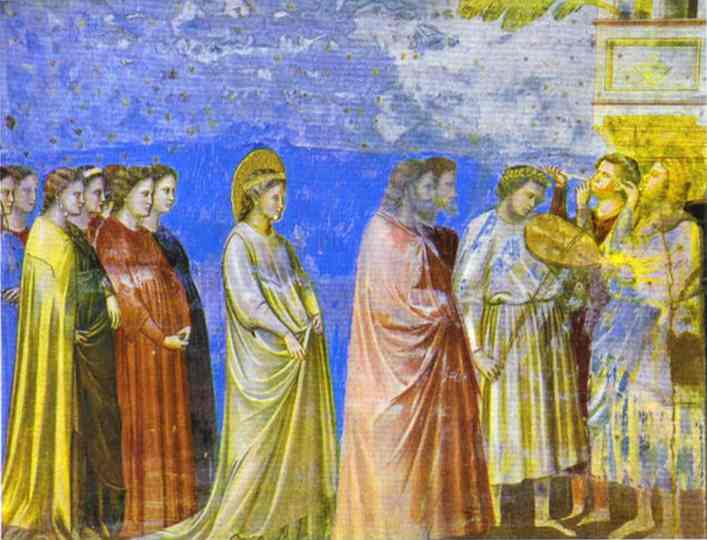 The Marriage Procession Of The Virgin Detail 1304-1306 | Giotto | Oil Painting