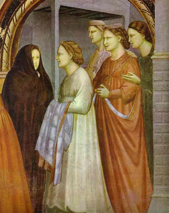 The Meeting At The Golden Gate Detail 1304-1306 | Giotto | Oil Painting