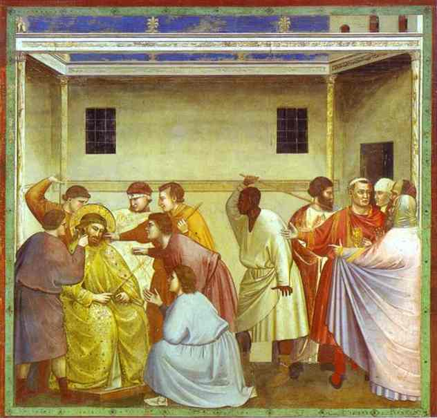 The Mocking Of Christ And Flagellation 1304-1306 | Giotto | Oil Painting