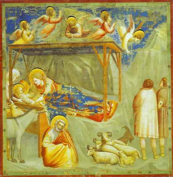 The Nativity And Adoration Of The Shepherds 1304-1306 | Giotto | Oil Painting