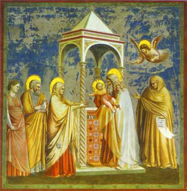 The Presentation Of Jesus In The Temple 1304-1306 | Giotto | Oil Painting