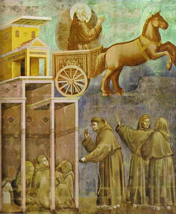 The Vision Of The Chariot Of Fire 1295-1300 | Giotto | Oil Painting
