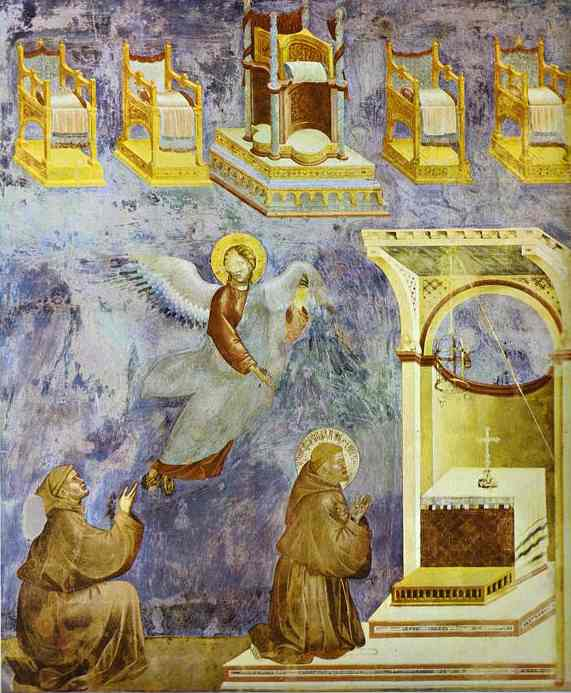 The Vision Of The Thrones 1295-1300 | Giotto | Oil Painting