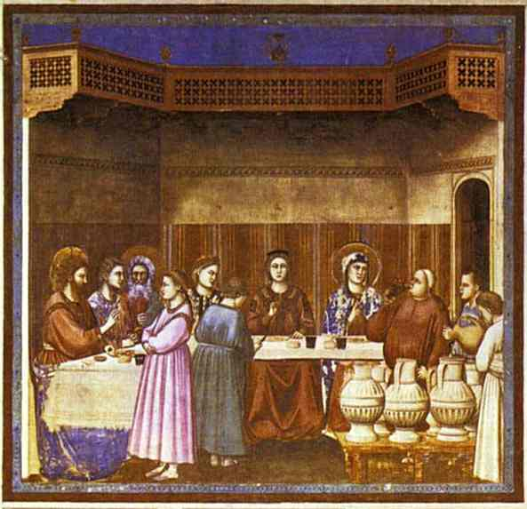The Wedding Feast At Cana 1304-1306 | Giotto | Oil Painting