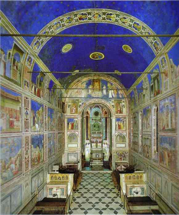 View Of The Interior Towards The Apse 1304-1306 | Giotto | Oil Painting