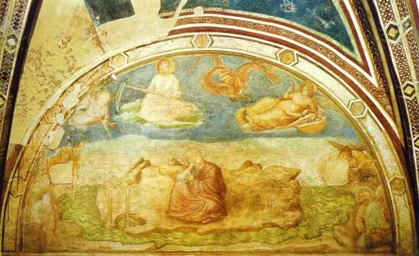 Vision Of John The Evangelist On Patmos 1313 14 Peruzzi Chapel Church Of Santa Croce Florence Italy | Giotto | Oil Painting